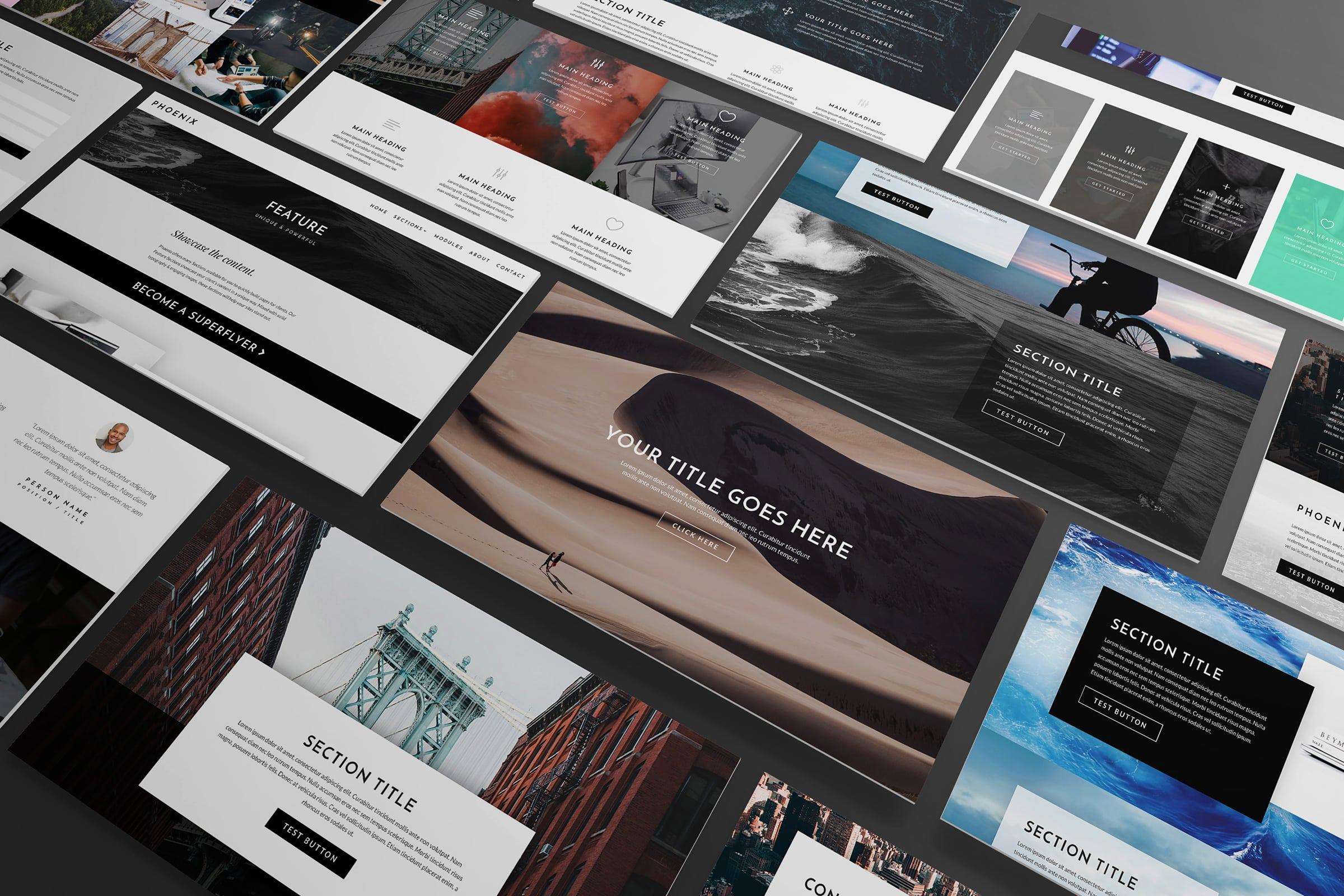 Gifted Owl portfolio - Images of website screens showcasing designs